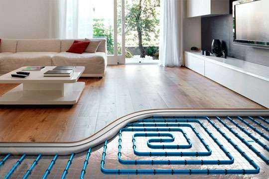 монтаж водяного підлогового опалення